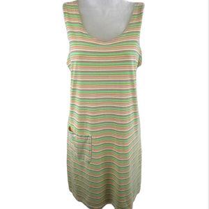 Fresh Produce Stripe Shift Dress/Cover-up Sz Small